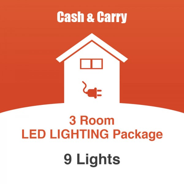 3 room led lighting package for Lighting packages for new homes