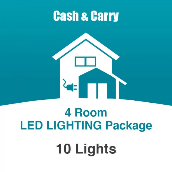 4 room led lighting package for Lighting packages for new homes